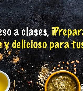 Este regreso a clases, ¡prepara un lunch saludable y delicioso para tus hijos!
